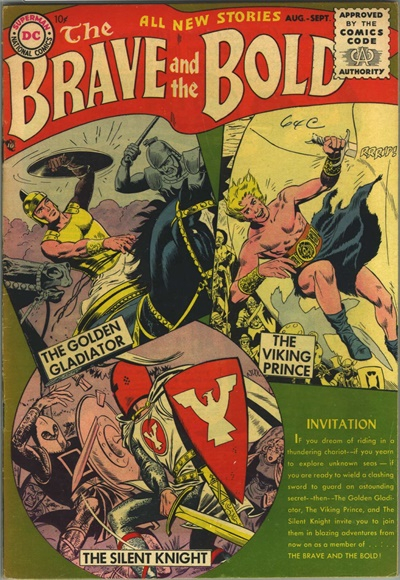 1955 - Brave and the Bold #1 - Click for Bigger Image in a New  Page