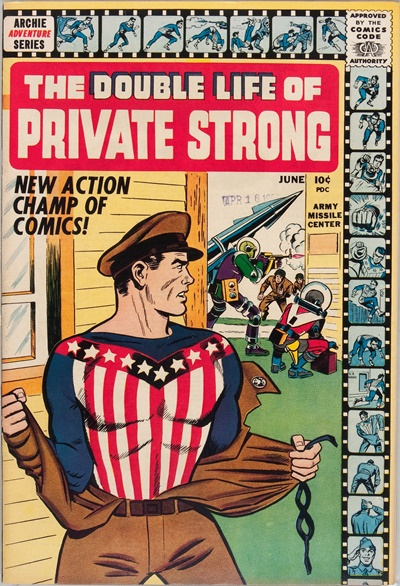 1959 - The Double Life of Private Strong #1 - Click for Bigger Image in a New  Page
