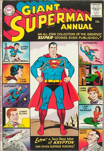 1960 - Giant Superman Annual - Click for Bigger Image in a New  Page